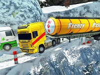 Extreme Winter Oil Tanker Truck